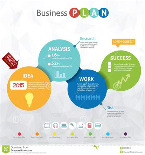 Modern Business Circle Royalty Free Stock Images Image 33640919 Modern Business Plan Template