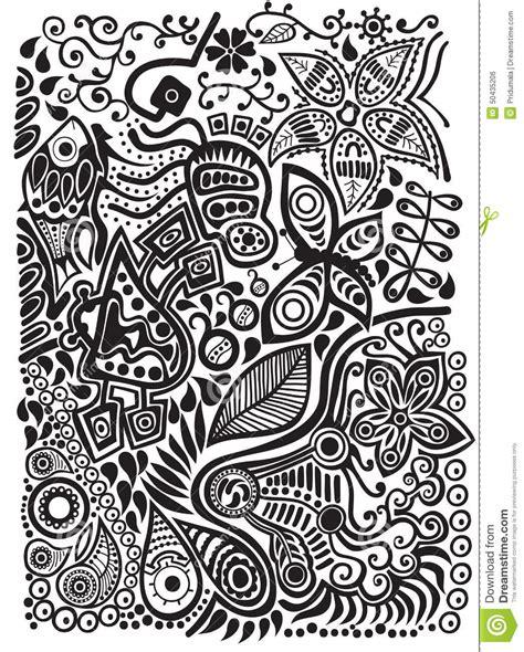 doodle nature doodle background stock vector illustration of decorative