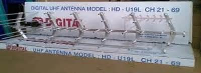 Antena Pf U19 spesifikasi merek antena uhf pf digital hd u19 bekasi
