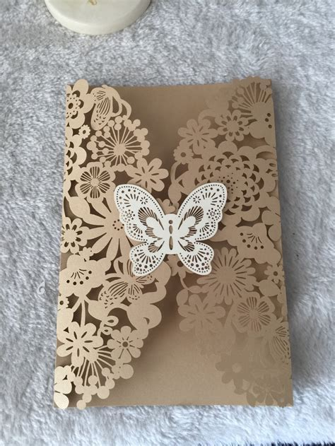 INC168 beautiful Wedding cards 50sets/lot laser cut