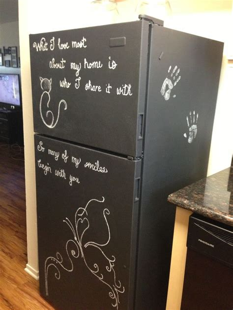 chalkboard paint on fridge home decor chalkboard paint fridge 2 small cans of