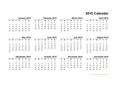 printable monthly calendars 2015 pdf 2015 calendar blank printable calendar template in pdf