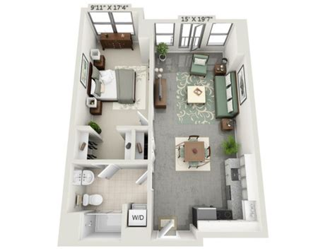 Rental House Plans by 1 Bed 1 Bath Apartment In Charlestown Ma Mezzo Design