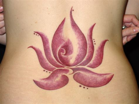 lotus tattoo tribal flower tattoos