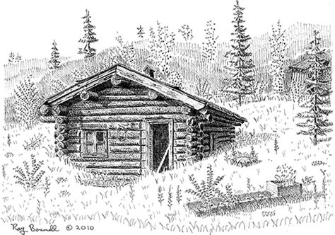 log cabin drawings sketches of alaska log cabin post office is about the
