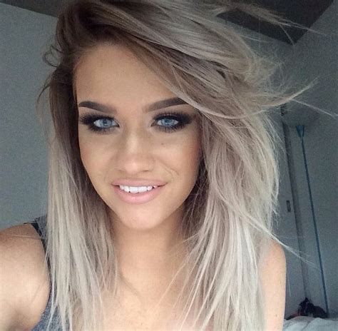 grey blonde and brown hairstyles 297 best images about hair inspiration on pinterest ash
