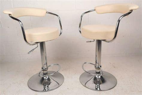 mid century modern adjustable bar stools pair of mid century modern italian adjustable bar stools