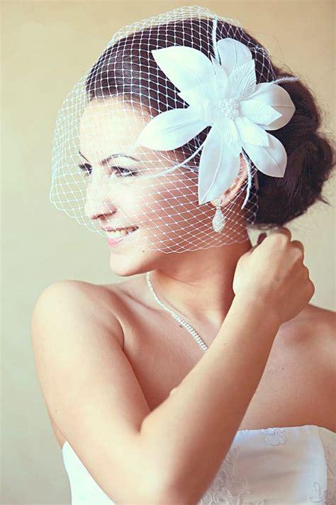 Wedding Hair With Fascinator by Birdcage Veil Wedding Hairstyles Wedding Fascinator Bridal