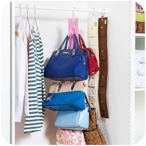 Handbag Hanger Closet by Hanging Handbag Closet Organizer Purse Storage 6 Hook Door
