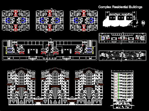 residential building housing dwg full project  autocad