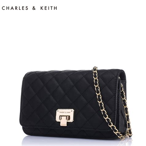 Charles Keith Setc2 Pouch selling charles keith lozenge chain bag shoulder bag messenger ck2 70700005