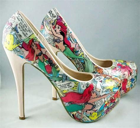 disney princess high heels disney mermaid heels disney princess going out shoes