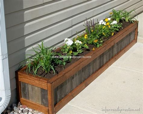 diy planter box planter boxes made from wooden pallets pallet wood projects
