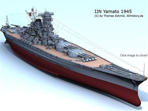ship yamato ijn yamato 3dhistory de geert pinterest battleship