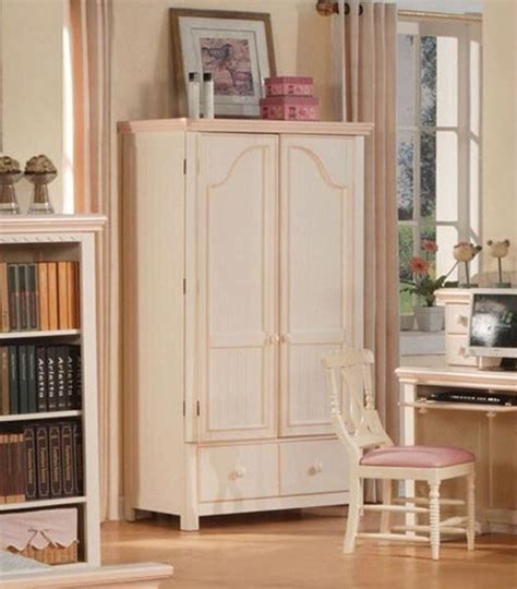 girls armoire acme furniture crowley cream white and peach finish tv