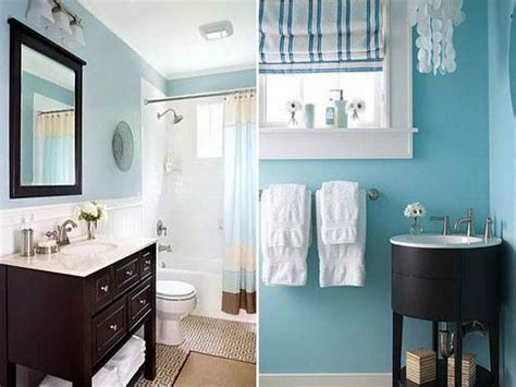 Decorating Ideas For Bathrooms Colors Bathroom Blue Brown Color Scheme Modern Bathroom