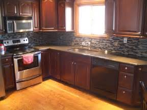 Kitchen Backsplash Ideas For Dark Cabinets by Kitchen Stone Backsplash Ideas With Dark Cabinets Subway