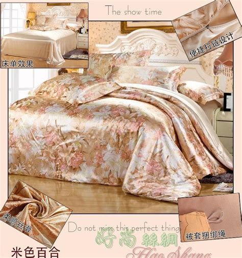 full size comforter cover silk beige floral bedding sets king queen full size duvet