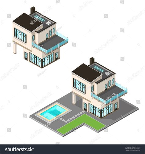 vector illustration ultra modern isometric home stock
