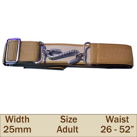 Elastic Belt Beige 25mm elasticated snake trouser belt beige