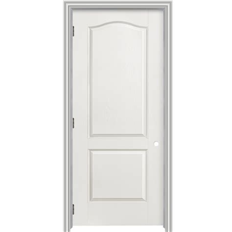 2 Panel Arch Top Interior Doors Shop Reliabilt 2 Panel Arch Top Hollow Textured Molded Composite Right Interior Single