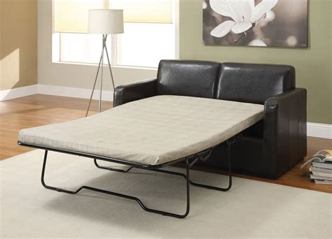 Casby Espresso Pu Leather Sofa Bed Full Sleeper Sofa Sleeper Bed