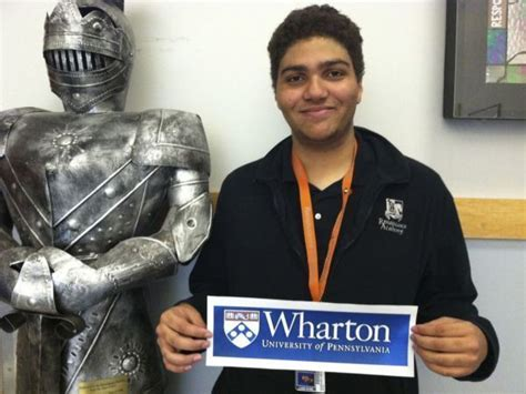 Mba From Prestigious Wharton Graduate Schoo by Phoenixville Renaissance Student Accepted To Penn S
