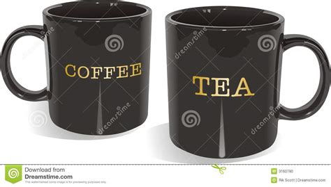 Tea And Coffee Mugs | tea and coffee mugs stock photo image 3160790