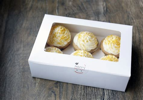 Box Kue Sovenir Cake Box Cake Cupcake Muffin Pudding wholesale price white 6 g muffin cupcake cups cake box of biscuits packaging box west point