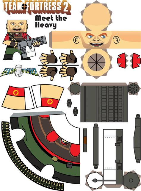 Team Fortress 2 Papercraft - team fortress 2 papercraft ambush gt d