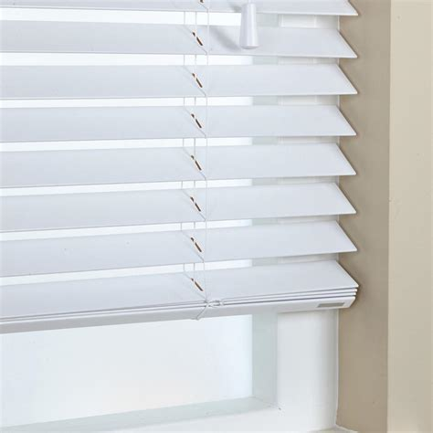 Wooden Blinds 50mm Elementi Wood Venetian Blind Gloss White