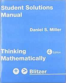 student solutions manual for thinking mathematically ebook amazon com thinking mathematically blitzer student