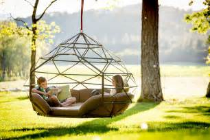 Round Chaise Lounge Outdoor Kodama Zomes Hanging Geodesic Seats Amp Beds Design Milk
