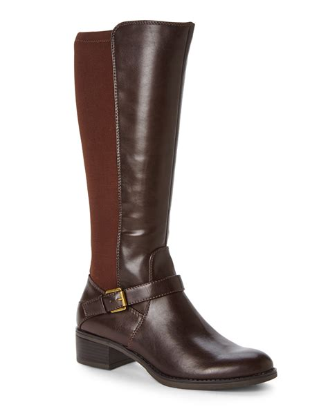 franco sarto brown council boots in brown lyst