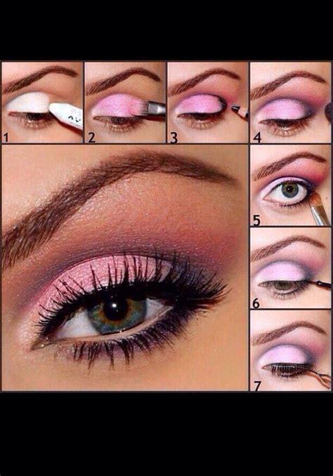 tutorial makeup eyeshadow pink pink and silver eyeshadow tutorial trusper