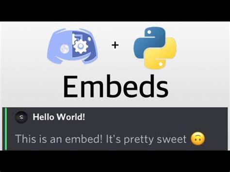 discord echo bot making a discord bot 3 embeds echo command doovi