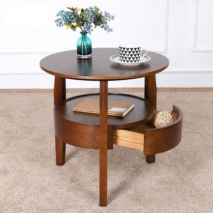 small end table living room furniture sofa side magazine coffee table small round table wooden living room simple