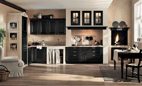 design interior gaia black and cream gaia classic kitchen interior stylehomes net