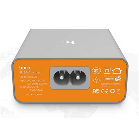 Limited Hoco Wall Travel Charger 5 Port 5a Intelligent Balance Usb hoco uh502 intelligent balance usb wall travel charger 5 port 5a gray jakartanotebook