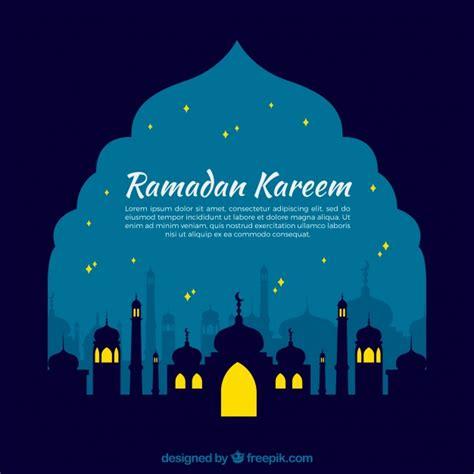 nocturnal ramadan background vector