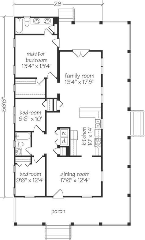great one story cottage floor plan just need to move the