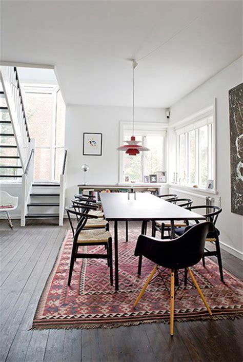 carpet dining room table design the influence kilim rugs la dolce vita