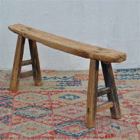 rustic long wooden bench windrush home barn vintage
