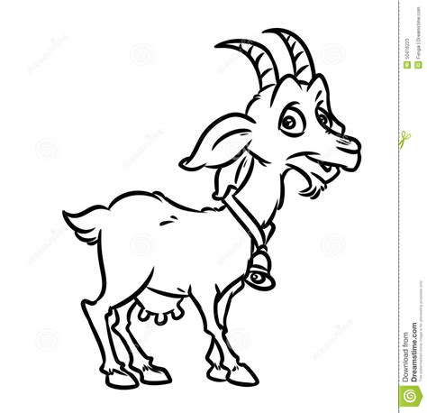 cartoon goat coloring page cute cartoon goat coloring coloring pages