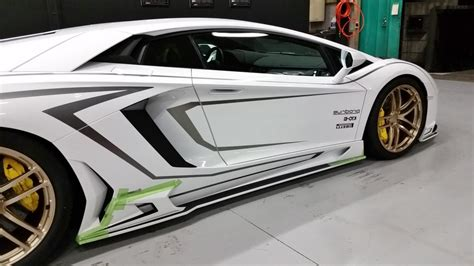 lamborghini custom body kits lamborghini aventador gets carbon body kit from rowen