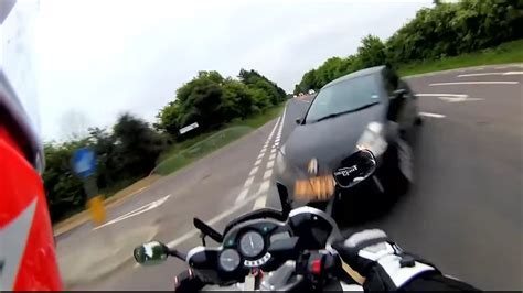 motorcycle pov crash accident  yamaha fjr car