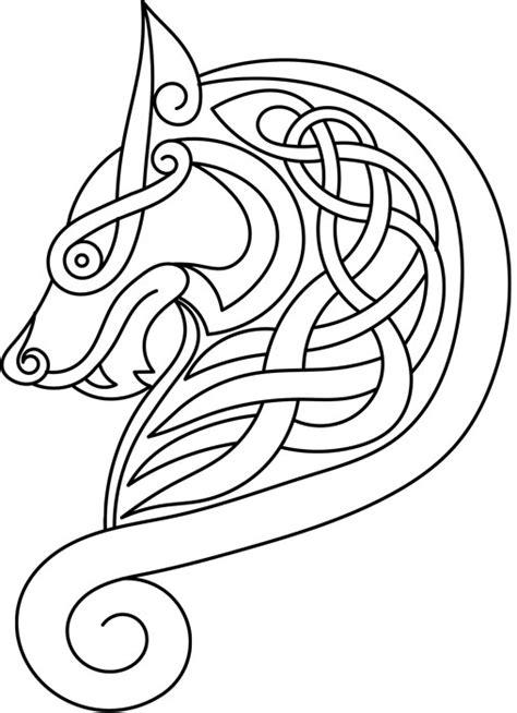 viking pattern vector vector celtic wolf by lupas deva on deviantart