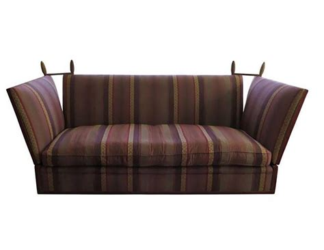 george smith striped knole sofa in burgundy stripe at 1stdibs