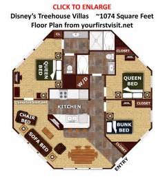 saratoga springs disney treehouse villas floor plan
