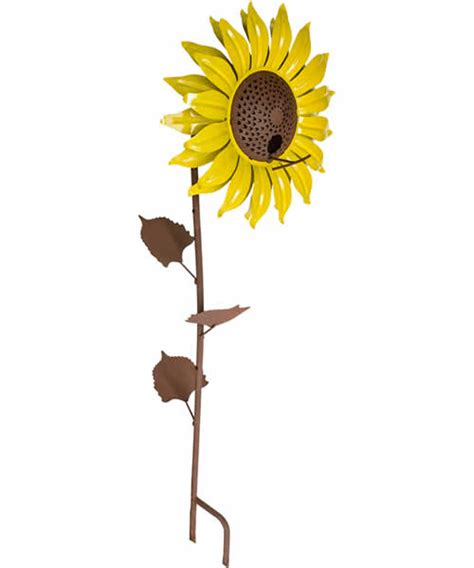 duncraft com staked sunflower bird feeder